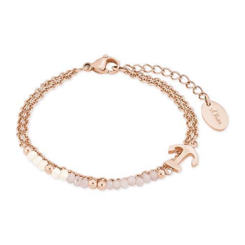 Damen Armband aus Edelstahl, IP rosé