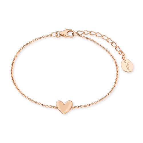 Herzarmband für Damen aus 925er Silber, rosé