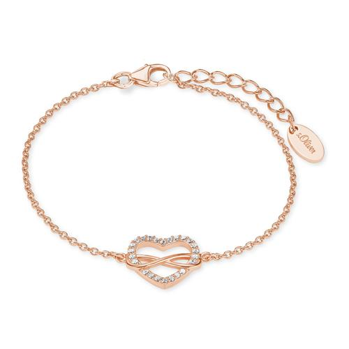 Herzarmband Infinity für Damen aus Sterlingsilber, rosé