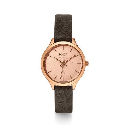 Uhren - Quarzuhr für Damen mit grauem Lederband  - Onlineshop The Jeweller