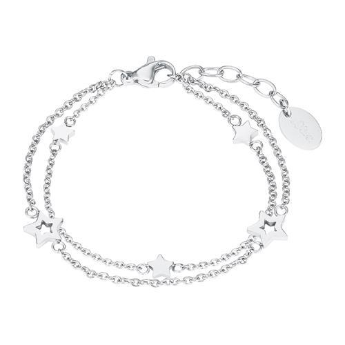 Sternarmband für Mädchen aus Edelstahl, zweireihig