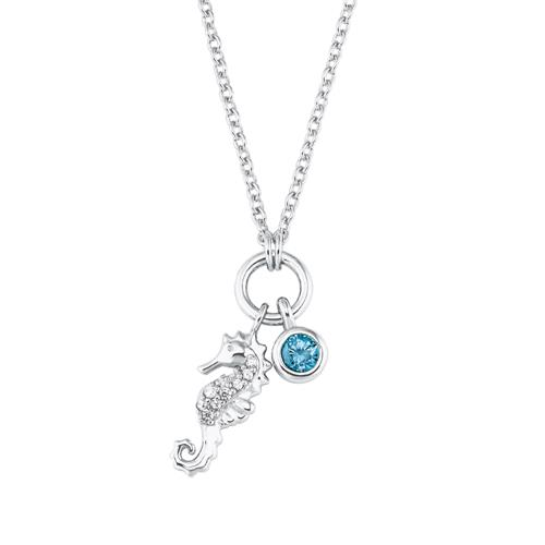 Halskette Seepferd für Mädchen aus 925er Silber