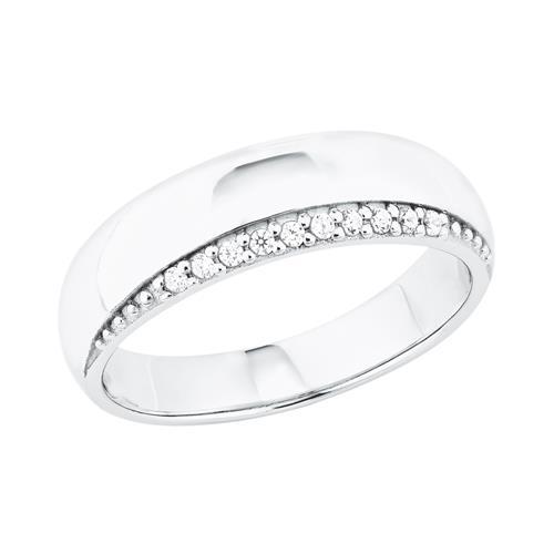 925er Silber Ring für Damen mit Zirkonia