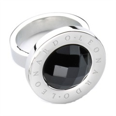 Leonardo Ring Matrix schwarz 010018