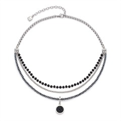 Damen Halskette Favo dreireihig