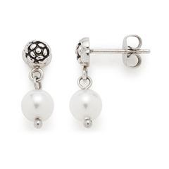 Ohrstecker Vaporoso aus Edelstahl mit Perlen