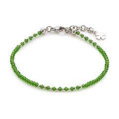 Damen Armband Pina aus Edelstahl mit grünen Glasperlen