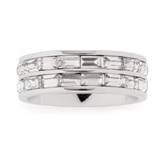 Ring Lia für Damen aus Edelstahl mit Kristallen