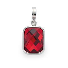 Gravur Damen Charm Aida Darlin´s mit Glasstein, rot