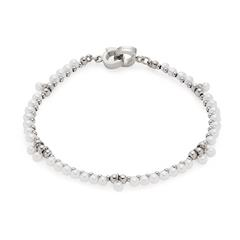 Clip & Mix Armband aus Edelstahl mit Perlen
