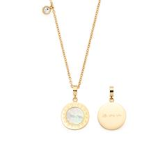Ladies Necklace Mauritia Stainless Steel, Gold Plated