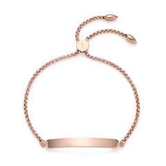 Armband Elisa für Damen aus Edelstahl, rosé