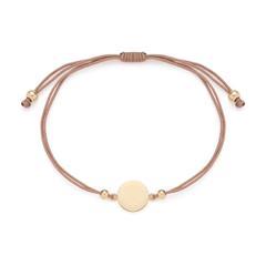 Nylonarmband Mila für Damen Edelstahl, gold
