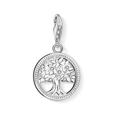 Charm Lebensbaum aus 925er Silber Zirkonia