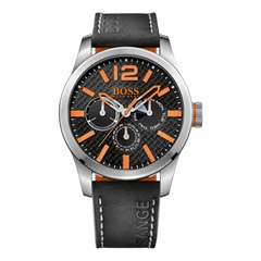 Hugo Boss Orange Herrenuhr Lederarmband 1513228