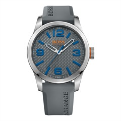 Hugo Boss Orange Herrenuhr Grau 1513349 Kautschuk