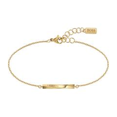 Signature Stainless Steel Bracelet For Ladies, Ip Gold