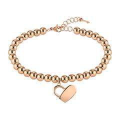 Beads Collection Gravurarmband aus Edelstahl, rosé