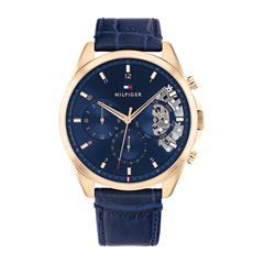 Uhr für Herren mit blauem Lederband