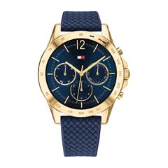 Damen Chronograph Sport, blau gold