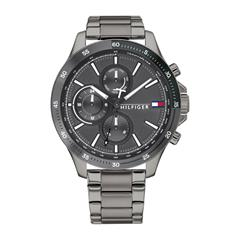 Men'S Watch In Grey Coated Stainless Steel With Date