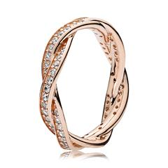 Ring Twist ROSE Zirkonia