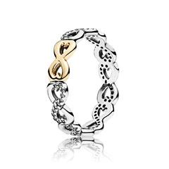 925er silber Ring mit 14k gold