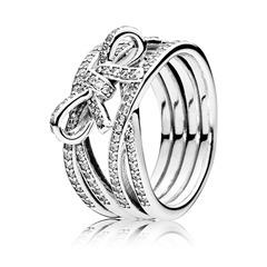 Ring Schleifen-Optik 925er Silber