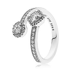 Damen Ring Sterlingsilber Zirkonia