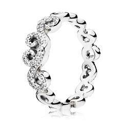 Ring Heart Swirls 925er Silber Zirkonia