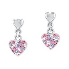 Mädchen Ohrringe Herz aus Sterlingsilber