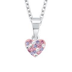Gravierbare Herzkette für Mädchen aus Sterlingsilber