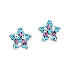 Mädchen Ohrstecker Sterne aus 925er Silber