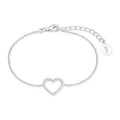 Damen Armband Herz aus 925er Silber mit Zirkonia