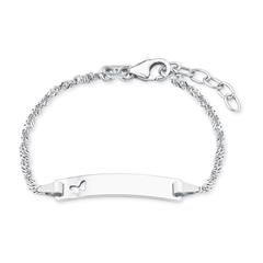 Mädchen Armband aus 925er Silber, gravierbar