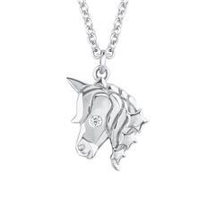 Einhornkette für Mädchen aus 925er Silber mit Zirkonia