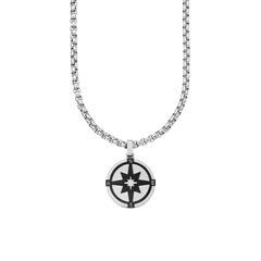 Herrenkette Kompass aus Edelstahl, gravierbar