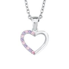 Herzkette für Mädchen aus Sterlingsilber mit Zirkonia