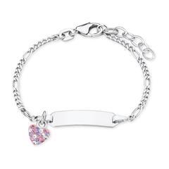 ID Armband für Mädchen aus 925er Silber mit Herz