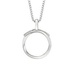 Kette für Damen aus 925er Silber mit Kreisanhänger