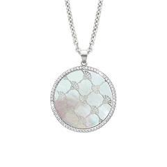 925er Silberkette für Damen mit Perlmutt und Zirkonia