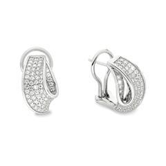 Ohrringe für Damen aus Sterlingsilber mit Zirkonia