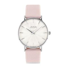 Armbanduhr für Damen mit Lederband, rosa