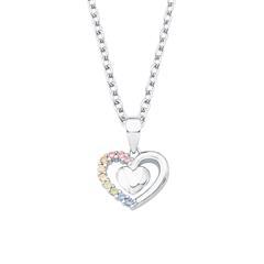 Herzkette für Mädchen aus 925er Silber mit Zirkonia