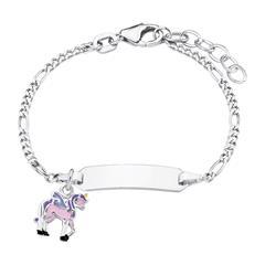 Gravur Armband Einhorn für Mädchen aus Sterlingsilber