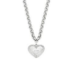 Damenkette Herz aus 925er Silber, gravierbar