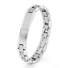 Armband für Herren aus Edelstahl, gravierbar