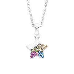 Sternkette für Mädchen aus 925er Sterlingsilber