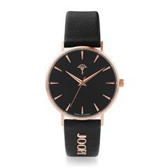 Armbanduhr für Damen, schwarz rosé