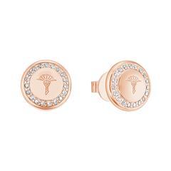 Damen Ohrstecker aus 925er Silber, rosévergoldet